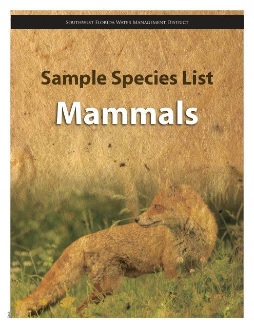 mammals - Southwest Florida Water Management District