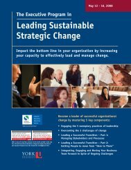 Leading Sustainable Strategic Change - Schulich School of ...