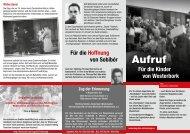 Flyer Sobibor Wittenberge - Zug der Erinnerung