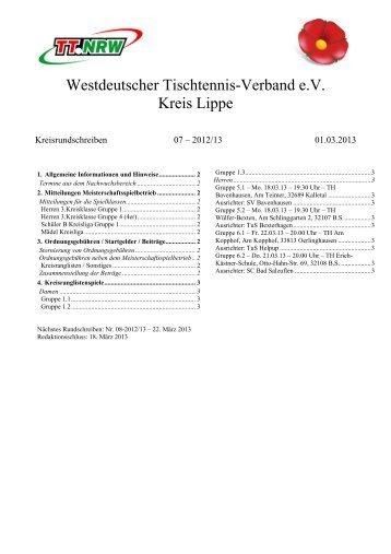 Kreisrundschreiben 7 - WTTV eV Kreis Lippe