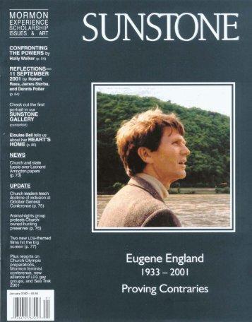 Eugene England - Sunstone Magazine