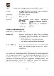 Hydrologisch-hydraulische Berechnungen für den Fuchsbach im ...