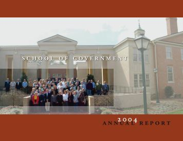 2003–2004 - School of Government - University of North Carolina at ...