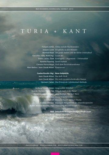 vorschau herbst 2013 - Turia + Kant