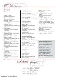 Editorial Board - The Journal of Bone & Joint Surgery