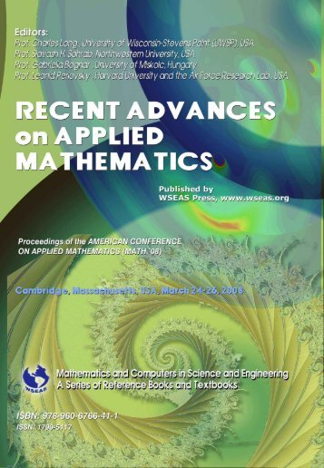 Recent advances on applied mathematics - WSEAS