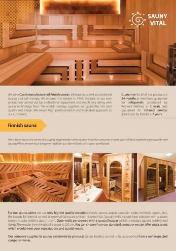 Finnish sauna saunas - Sauny Vital
