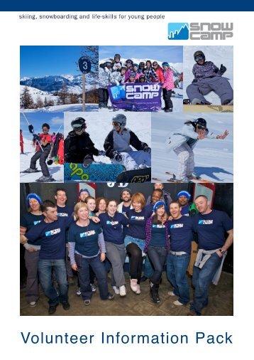 Volunteer infor for website - Snow Camp