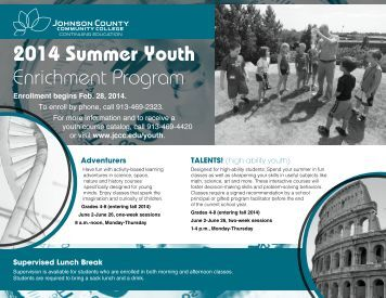 Summer Youth Enrichment Program - Johnson County Community ...