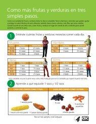 Coma Más Frutas y Verduras en Tres Simples Pasos - Fruits ...