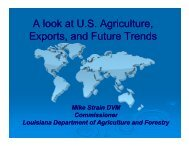 US Agriculture, Exports, and Future Trends-Commissioner Mike Strain
