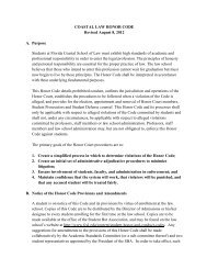 Coastal Law Honor Code - Florida Coastal School of Law
