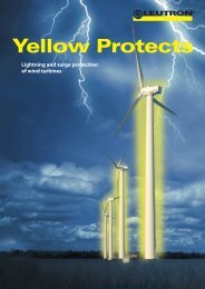 Lightning and surge protection of wind turbines - Leutron GmbH