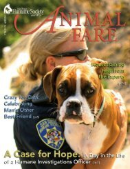 Fall 2009 • V ol. 43 No. 3 - San Diego Humane Society and SPCA