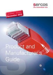 Product and Manufacturer´s Guide - sercos
