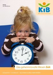 Das geheimnisvolle Wesen Zeit - KiB Children Care