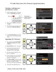 UT Audio Video Center (AVC) Firmware Upgrade Instructi