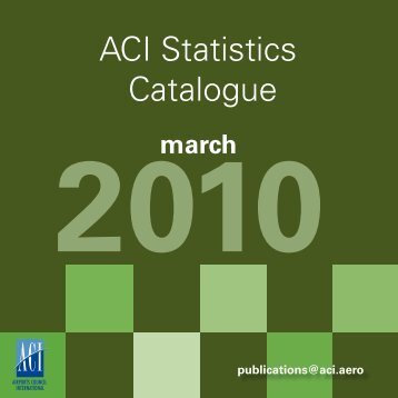 ACI Statistics Catalogue - Airports Council International