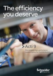 Acti 9 brochure - Schneider Electric