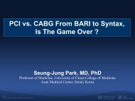 PCI vs. CABG From BARI to Syntax, Is The Game ... - summitMD.com