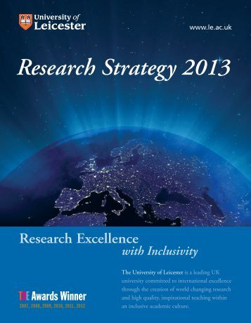 Research Strategy 2013 - University of Leicester