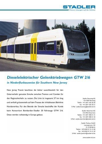 Dieselelektrischer Gelenktriebwagen GTW 2/6