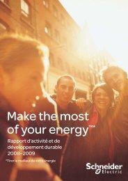 Rapport activité et développement durable 2008 ... - Schneider Electric
