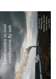Lanthanides in coal combustion fly ash - Fly Ash Library