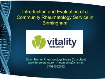 our service - The British Society for Rheumatology