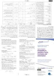 Triola's The Basic Practice of Statistics Formulas & Tables