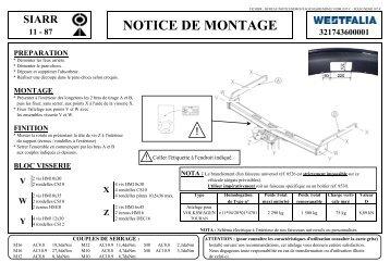 NOTICE DE MONTAGE - WESTFALIA-Automotive GmbH
