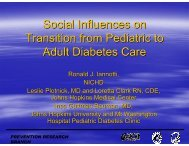 Social Influences on Transition from Pediatric to Adult Diabetes Care