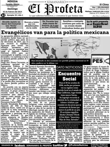 Semanario El Profeta 2 de Febrero del 2014