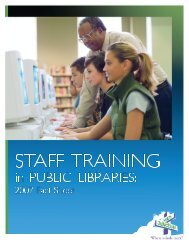 Staff-Training-in-Public-Libraries-2007-Fact-Sheets - WebJunction