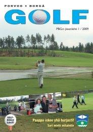 PBG:n jäsenlehti 1 / 2009 - Golfpisteen etusivulle