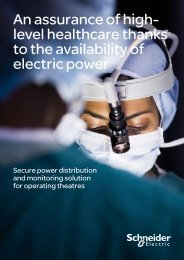 An assurance of high- level healthcare thanks to ... - Schneider Electric