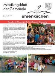 Einweihung Scherzinger Spritzenhaus am Batzenberg - Gemeinde ...