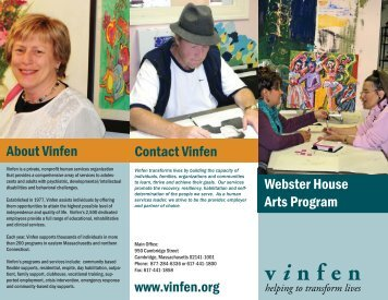 Webster Arts Program - Vinfen