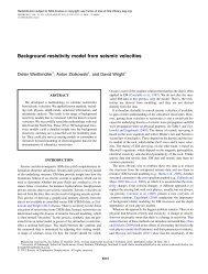 Background resistivity model from seismic velocities - Edinburgh ...