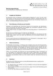 Benutzungsordnung - Hochschule Fresenius