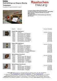 Katalog Gewindefittings aus Rotguss, Messing Temperguss
