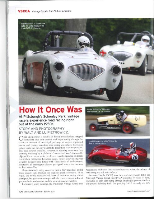 (PDF) – Vintage Motorsport Magazine Nov/Dec 2010 - Pittsburgh ...