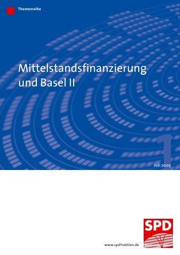 Themenreihe 1 - Mittelstandsfinanzierung und Basel II