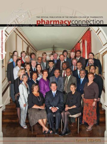 November/December 2009 - Ontario College of Pharmacists