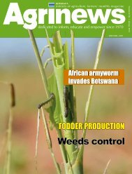 Agrinews January 2013 - Ministry of Agriculture