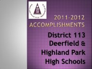 2011-2012 District 113 Accomplishments - Township High School ...
