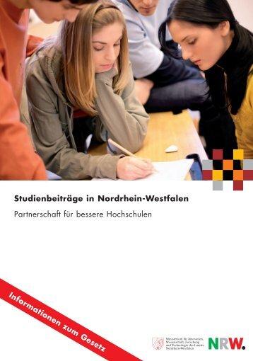 Studienbeiträge in Nordrhein-Westfalen Partnerschaft für bessere ...