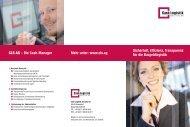 Sicherheit, Effizienz, Transparenz für die ... - Cash Logistik Security AG