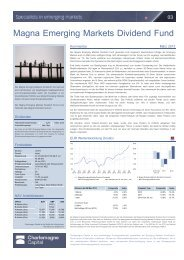 Magna Emerging Markets Dividend Fund - e-fundresearch.com