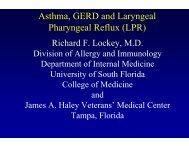 Asthma, GERD And Laryngeal Pharyngeal Reflux - World Allergy ...